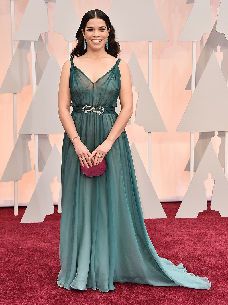 America ferrera no oscar 2015 red carpet