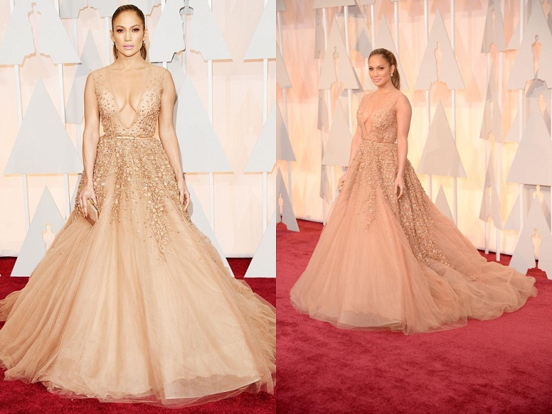 Jennifer Lopes de Elie Saab no Oscar 2015