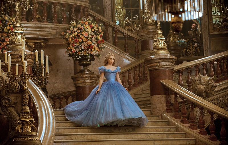 Lily James is Cinderella in  Disney's live-action