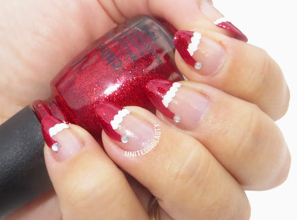 como decorar as unhas de papai noel