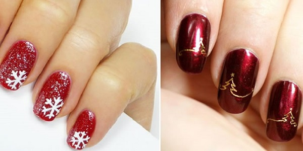 como decorar as unhas no natal mais de 60 tipos