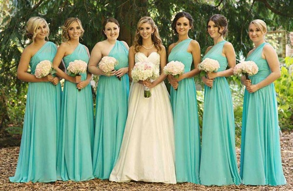 Casamento festa em azul tiffany moda sem limites for Wedding dresses with tiffany blue