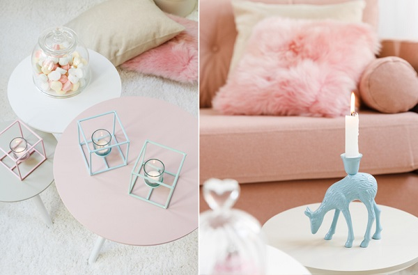 como decorar com as cores do ano serenity e rose quartz