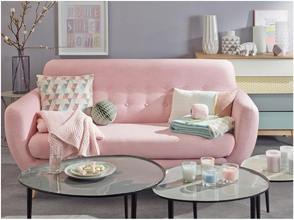 sala de estar em rose quartz cor do ano como usar tendencia