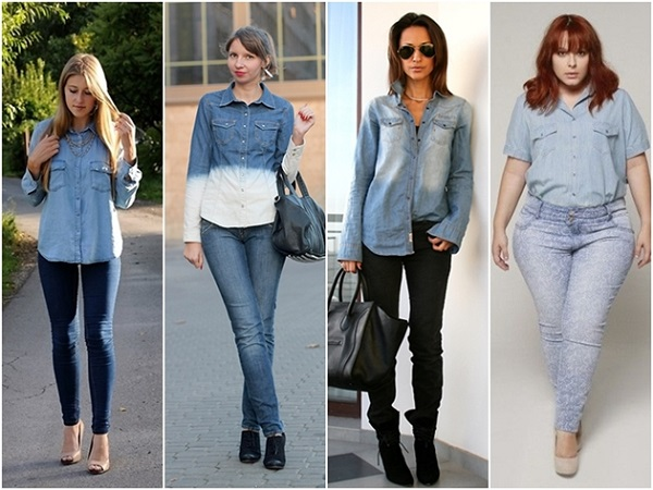 jeans total look do dia trend