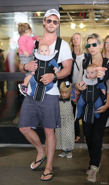 THOR FAMILIA CHRIS HEMSWORTH