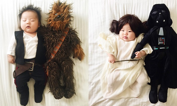 bebe fantasiado de star wars