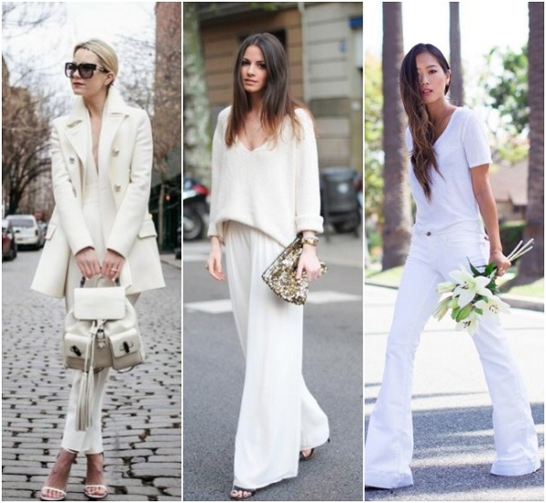 street style total white fashion