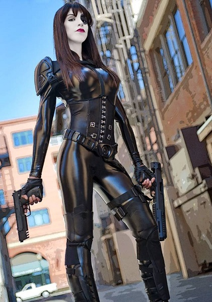 domino x men cosplay fantasia