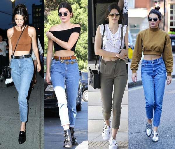 kendall jenner top e jeans