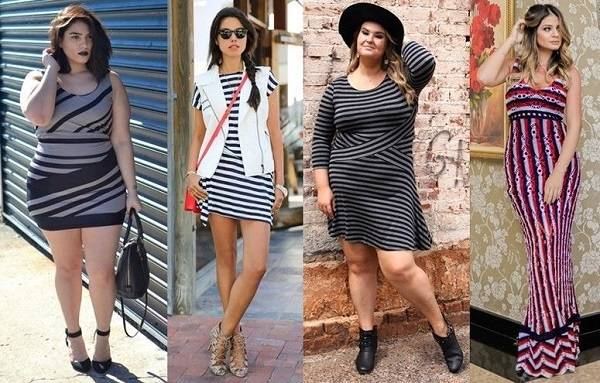 LOOK LISTRADO PLUS SIZE