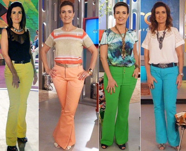 fatima bernardes look calca colorida