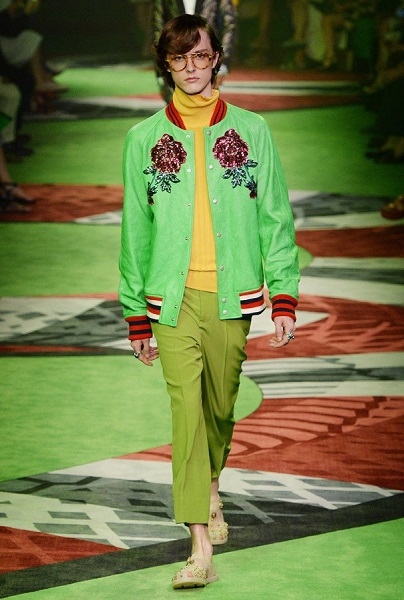 gucci verde greenery look