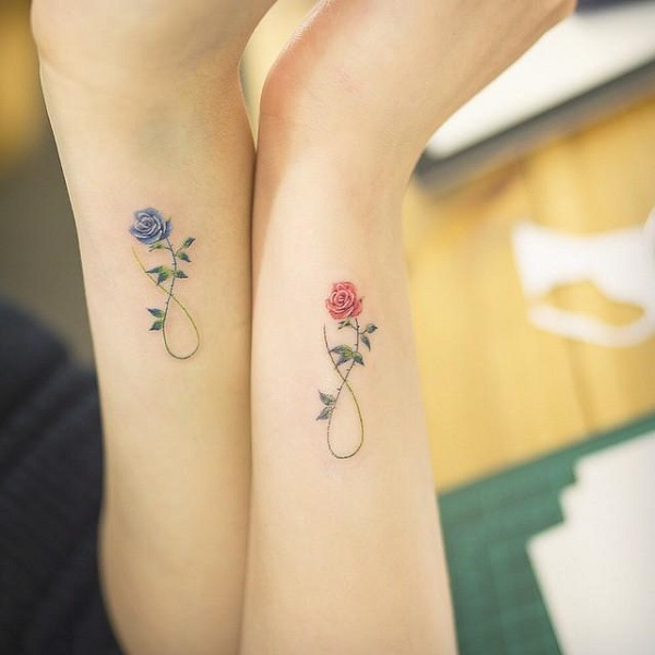 tattoo de rosas no pulso