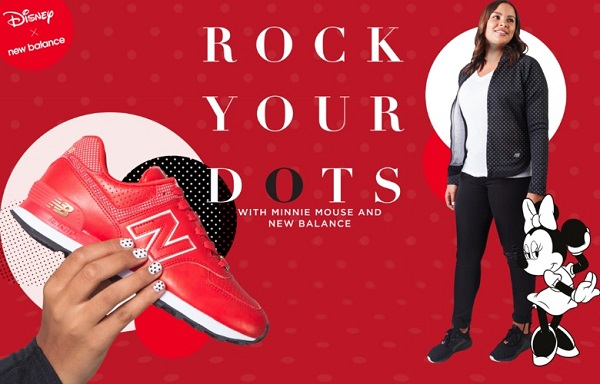 rock your dots new balance e minnie mouse