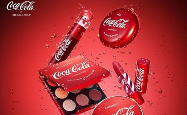 maquiagem coca cola the face shop 2018 porcarol velloso